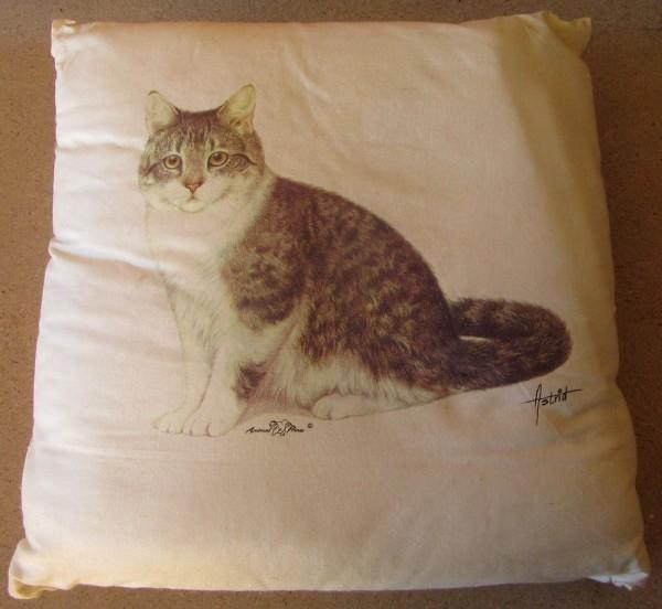 Kissen mit Füllung - Motiv Sitzende Katze