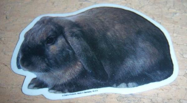 Aufkleber Widder Kaninchen - groß