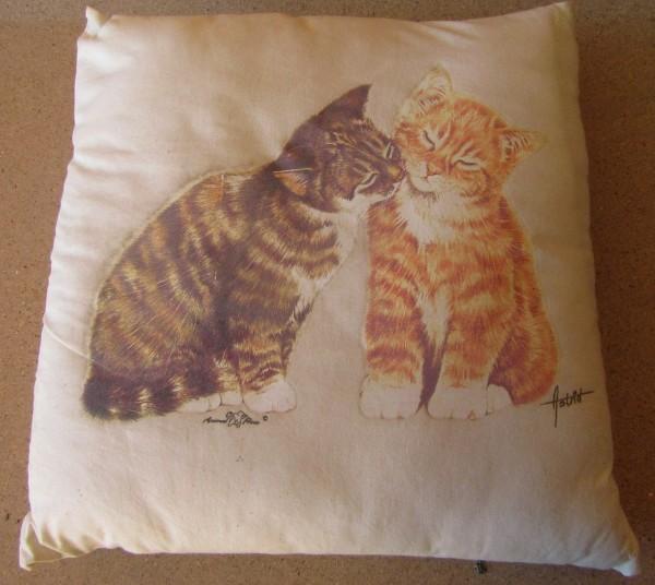 Kissen mit Füllung - Motiv Two Kitten