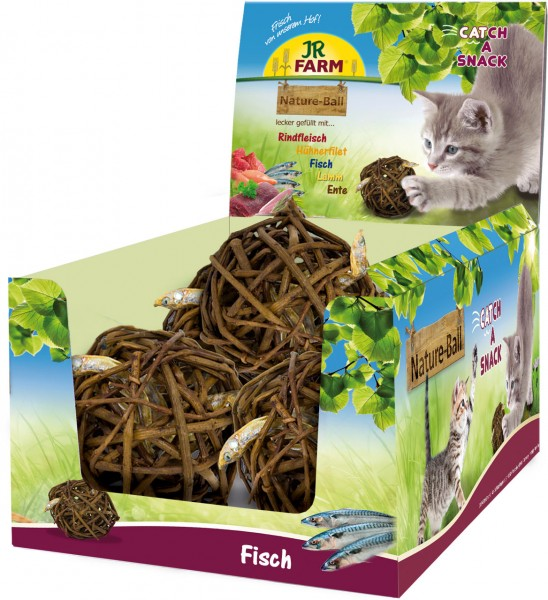JR Farm Cat Nature-Ball Fisch - 15 g
