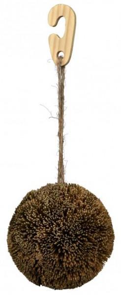 Spielball aus Seegras mit Aufhängung