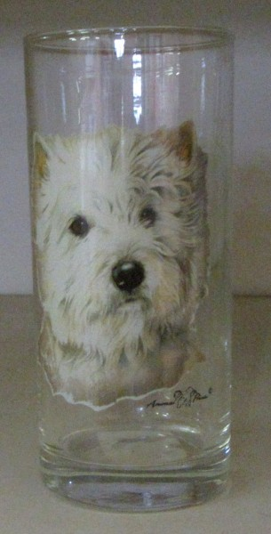 "Trinkglas Motiv ""Westie"""