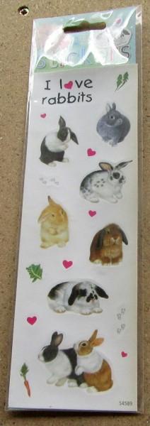 Kaninchen Stickers