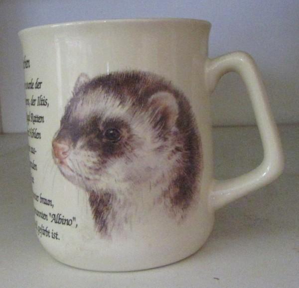 Kaffeebecher mit Frettchen Motiv
