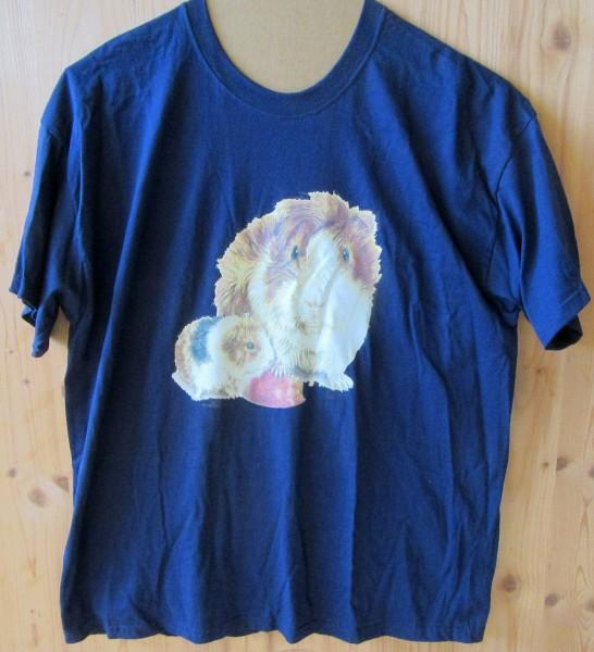 T-Shirt mit Meerschweinchen Motiv I - blau