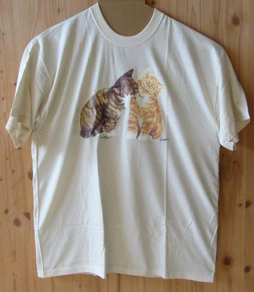 T-Shirt - zwei Katzen