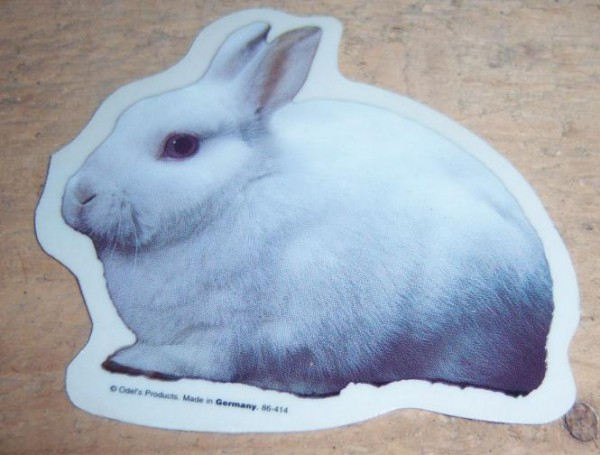 Aufkleber Kaninchen Weiß - groß