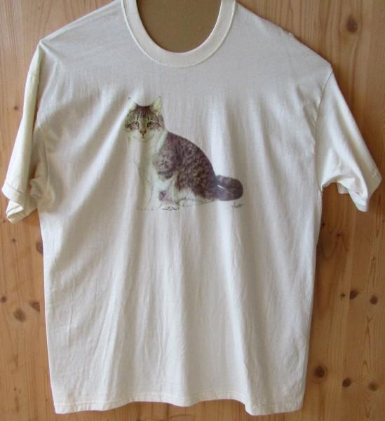 "T-Shirt mit Motiv ""Sitzende Katze"""