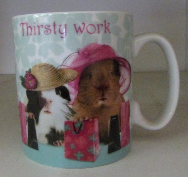 """Kaffeebecher """"Thirsty Work"""""""