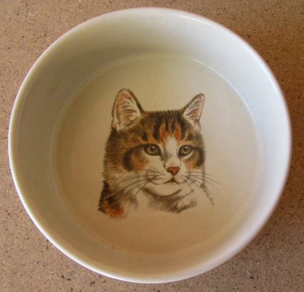 Porzellan Napf mit Katzenmotiv I