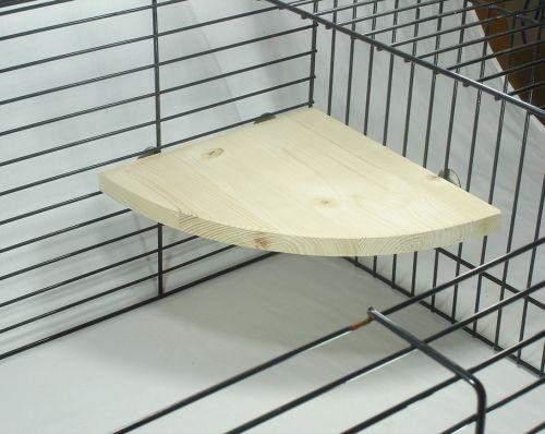 Sitzbrett für Gitterkäfig - 22 x 22 x 1,8 cm