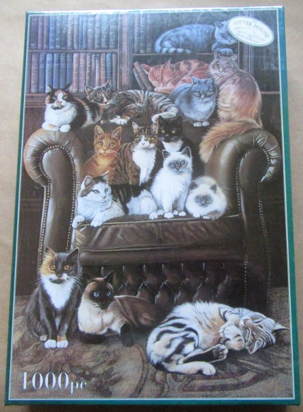 """Puzzle """"Cat´s in the Library"""""""