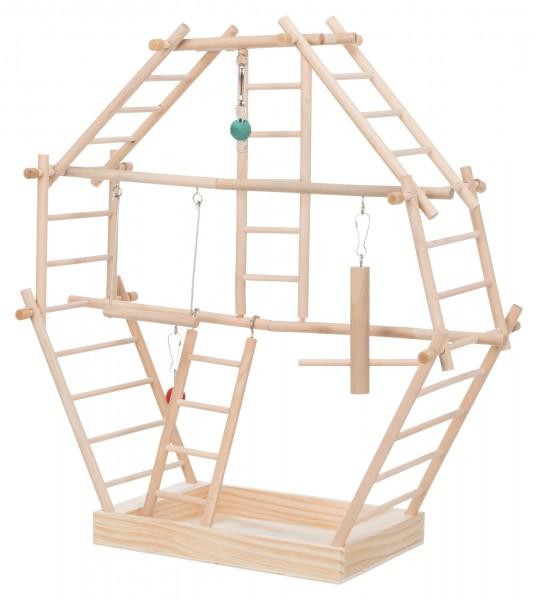 Leiter-Spielplatz aus Naturholz - 42 x 44 cm