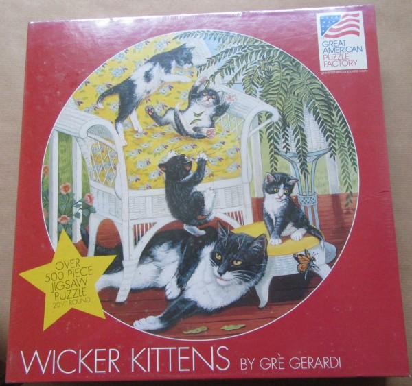 """Puzzle """"Wicker Kitten"""""""