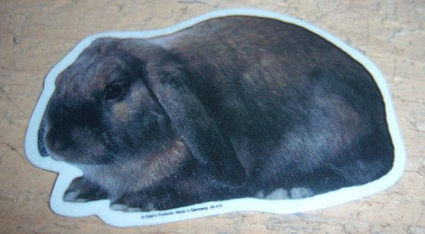 Aufkleber Widder Kaninchen - klein