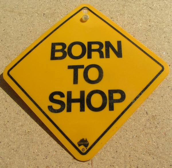 Road Sign - Born to Shop