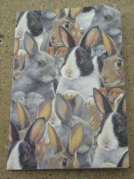 Klappkarte mit Kaninchen Motiv