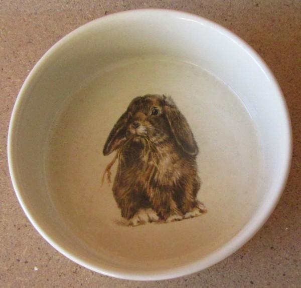 Porzellan Napf mit Kaninchen-Motiv