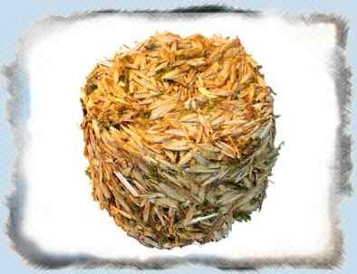 Runde Ecke - Heublumenblüten Spinat - 15 g