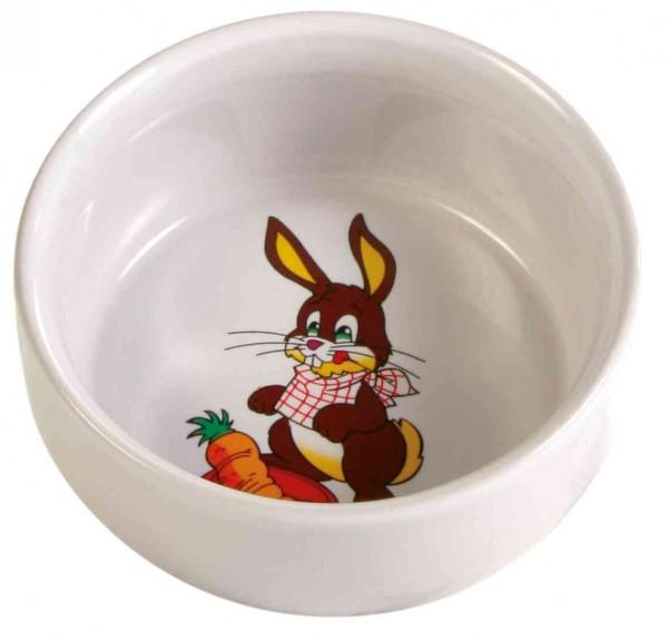 Keramik Napf mit Motiv Kaninchen
