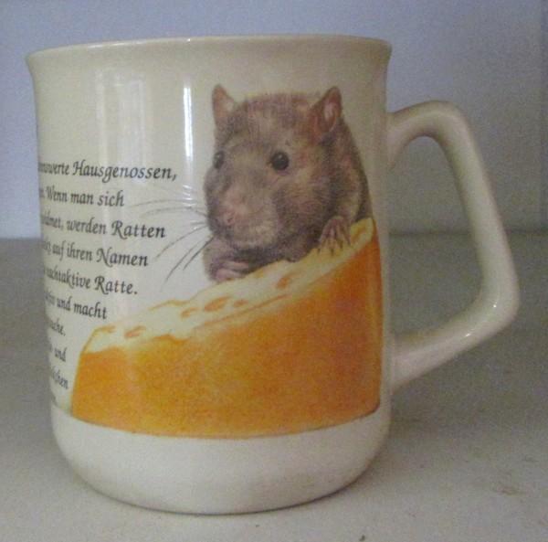 Kaffeebecher mit Ratten Motiv