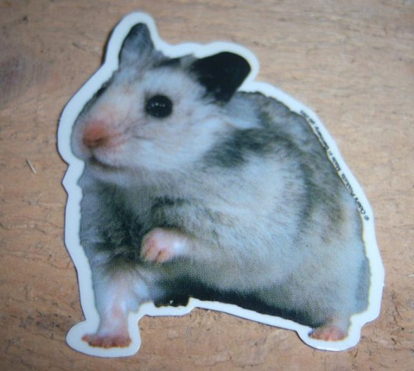 Aufkleber Hamster - klein