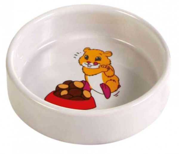 Keramik Napf mit Motiv Hamster