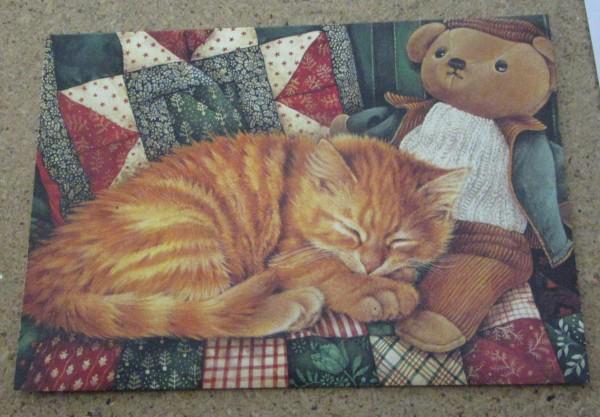Klappkarte - Katze Weihnachten